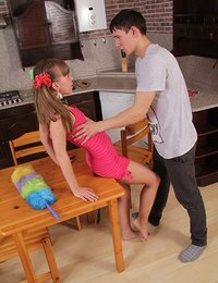 Petite Russian redhead Ivetta discovers all the fun of the light bondage and hardcore sex with some help from her lover Danil, that guy always did know how to make a shy teen chick submit to him completely.