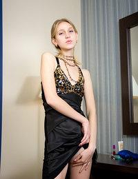 Classy blonde model